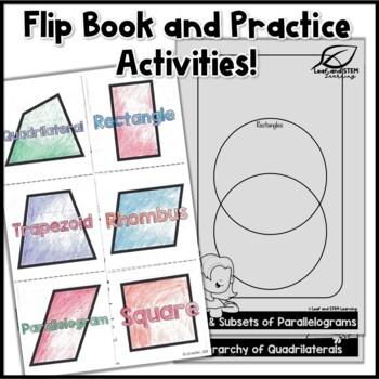 Classifying Quadrilaterals Interactive Notebook Set