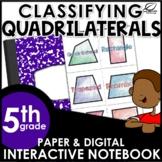 Classifying Quadrilaterals Interactive Notebook Set | Dist