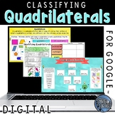 Classifying Quadrilaterals Interactive Practice for Google Classroom