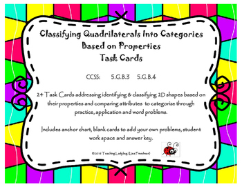 Classifying Quadrilaterals Into Categories Based on Proper