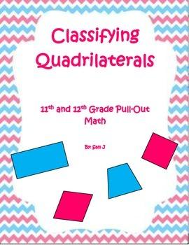 Classifying Quadrilaterals Lesson Plan Bundle