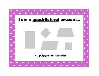 Classifying Quadrilaterals Mini Posters