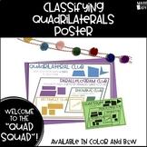 Classifying Quadrilaterals Poster - Quadrilateral Club/Quad Squad