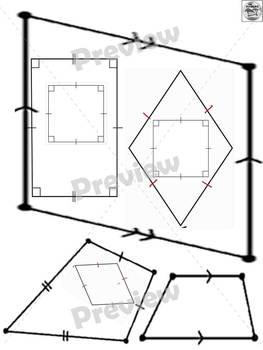 Classifying Quadrilaterals Sort