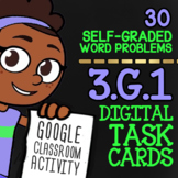 Classifying Quadrilaterals Digital Task Cards ★ 3.G.1 Word Problems Activity