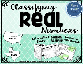 Classifying REAL Numbers - Includes all Rational and Irrational Numbers