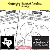 Classifying Rational Numbers Activity (STAAR Test Prep / 6.2A )