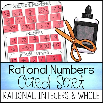 Classifying Rational Numbers Card Sort (Rational, Whole, &