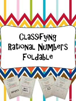 Classifying Rational Numbers Foldable