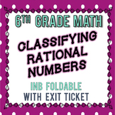 Classifying Rational Numbers INB Notes, Exit Ticket - 6th