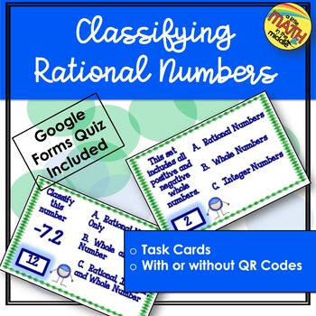 Classifying Rational Numbers Task Cards  TEKS 6.2A