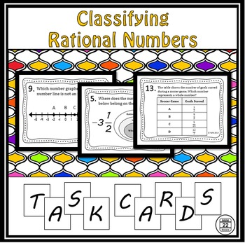 Classifying Rational Numbers Task Cards