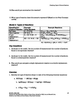 Classifying Reactions Activity