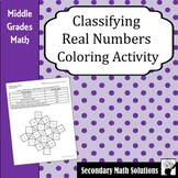 Classifying Real Numbers Coloring Activity (6.2A, 7.2A, 8.2A)