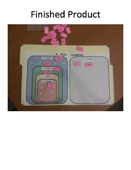 Classifying Real Numbers File Folder Game