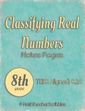 Classifying Real Numbers Note Pages