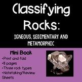 Classifying Rocks Mini Book
