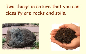 Classifying Rocks and Soil - Smartboard Lesson