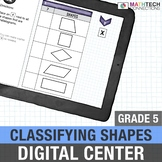 5th Grade Digital Math Center Classifying Shapes Google Classroom    5.G.3
