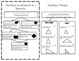 Classifying 2-D Shapes Journal Entry (5th grade Geometry)