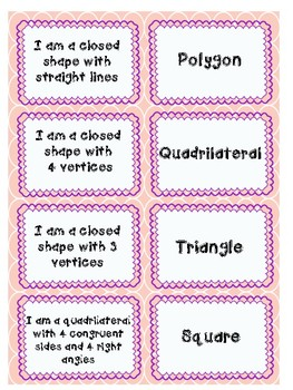 Classifying Shapes Matching Game