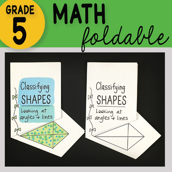 Classifying Shapes Math Interactive Notebook Foldable