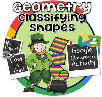 Classifying Shapes by their Attributes - St. Patrick's Day Geometry Game