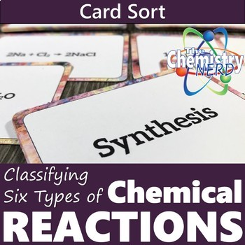 Classifying Six Types of Chemical Reactions Card Sort Activity