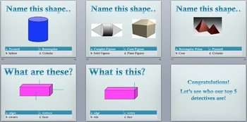 Classifying Solid Figures PowerPoint 15.6 HM