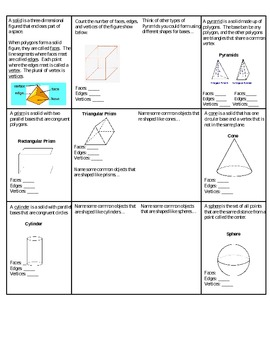 Classifying Solids Foldable