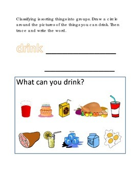 Classifying Sorting Groups #5 Following Directions Compreh