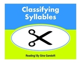 Classifying Syllables
