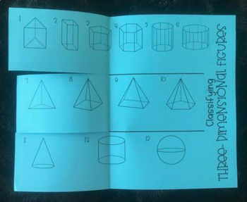 Classifying Three- Dimensional Figures (Foldable)