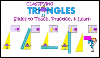 Classifying Triangles by angles and sides- Interactive PowerPoint & Activities