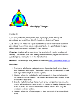 Classifying Triangles Using Catchbook