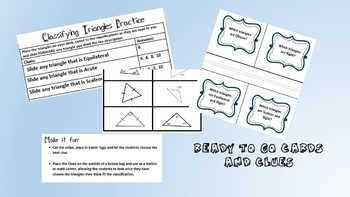 Classifying Triangles - 3 activities