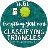 Classifying Triangles 4th grade geometry  TEKS 4.6C