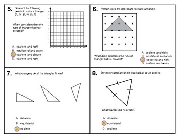 Classifying Triangles 5.G.3 & 5.G.4