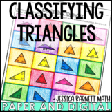 Classifying Triangles Activity   Coloring   Digital and Print