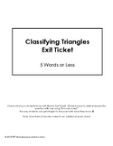 Classifying Triangles Exit Ticket