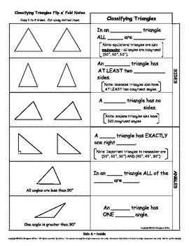 Classifying Triangles Flip n' Fold Notes