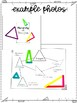Classifying and Identifying Triangles Lesson for Interactive Notebooks