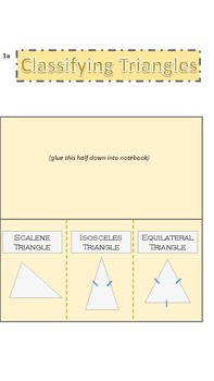 Classifying Triangles Foldable/Notes