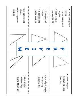 Classifying Triangles Foldable and Practice