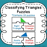 Classifying Triangles Game Puzzles Types of Triangle Activity by Sides & Angles