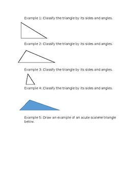 Classifying Triangles Guided Fill In Guided Notes