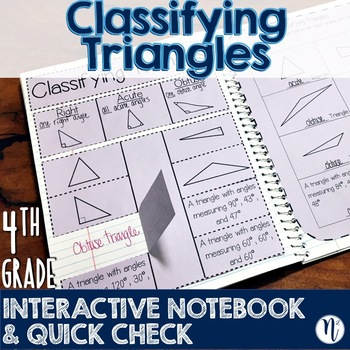 Classifying Triangles Interactive Notebook Activity & Quick Check TEKS 4.6C