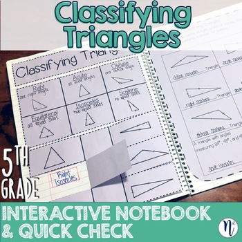 Classifying Triangles Interactive Notebook Activity & Quick Check TEKS 5 5A