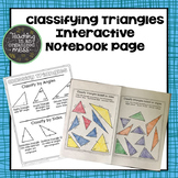 Classifying Triangles Interactive Notebook Page