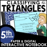 Classifying Triangles Interactive Notebook Set